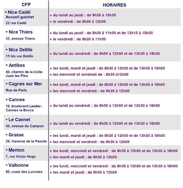 Finance A Compter Du 1er Juillet 2015 Nouveaux Horaires D