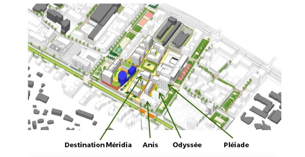 Nice Méridia : Pose de la première pierre des trois programmes : Pléiade, Odyssée, et Anis Economie 27 mars 2017