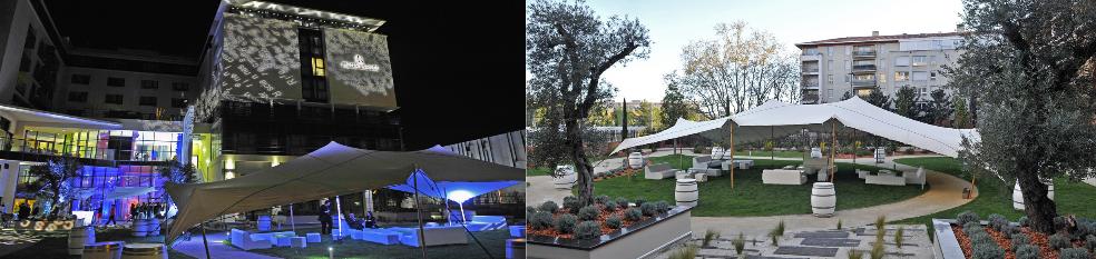 Le jardin eph m re de l h tel renaissance aix en provence un espace lounge une terrasse un - Hotel renaissance aix en provence ...