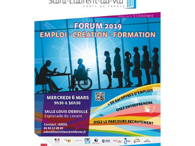 Economie Saint Laurent Du Var 5eme Forum Emploi Creation Formation Le 6 Mars Petites Affiches Des Alpes Maritimes Annonces Legales Appels D Offres Ventes Aux Encheres