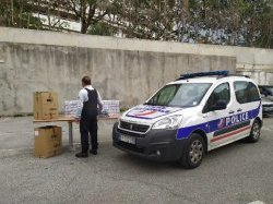 Le Département a remis 10 000 masques à la Police Nationale des Alpes-Maritimes